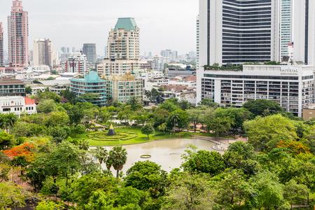 benjakitti: BANGKOK, THAILAND - CIRCA MAY, 2015: Benjakitti is a small park situated on Sukhumvit road. It is accessible via BTS sky train.