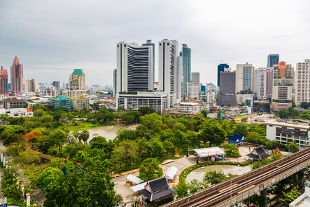 benjakitti: BANGKOK, THAILAND - CIRCA MAY, 2015: Benjakitti is a small park situated on Sukhumvit road. It is accessible via BTS sky train.