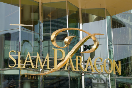 BANGKOK, THAILAND - CIRCA MAY, 2015: Siam Paragon is a famous mega shopping mall situated on Sukhumvit road. It is popular among teenagers and tourists. Opened in 2005