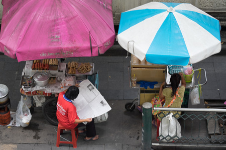 viewed: Hawker viewed  from above Stock Photo