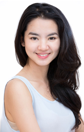 shot: Headshot of an attractive asian lady in casual cloth