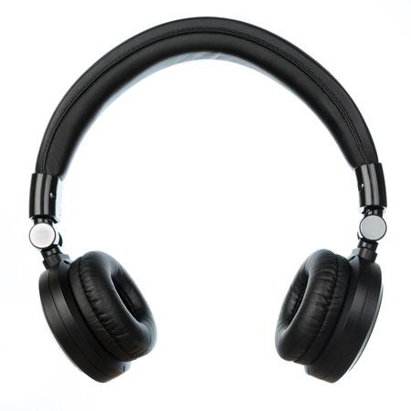 cordless: travel cordless headphones isolated on white background