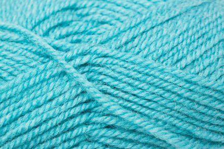yarn: Texture macro of a blue yarn ball