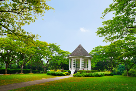 Band stand mijlpaal in Singapore Botanic Garden
