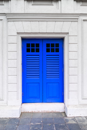 spanish homes: Colorful British colonial style door from Singapore