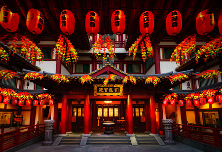 relic: Front gate of the Buddha Tooth Relic Temple, Singapore