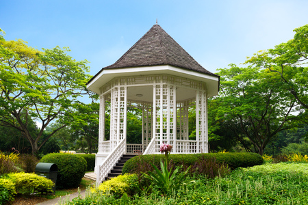 garden: Band stand landmark at Singapore Botanic Garden