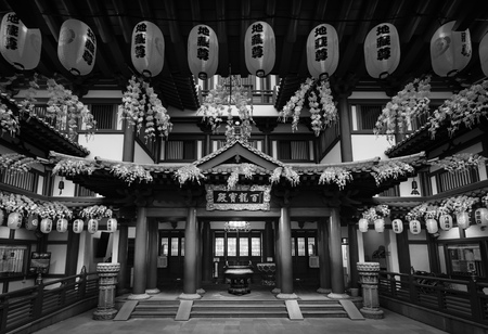 september 9th: singapore - September 9th, 2015: Front gate of the Buddha Tooth Relic Temple, Singapore.