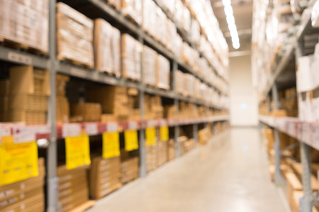 store interior: A defocused Background of furniture store warehouse