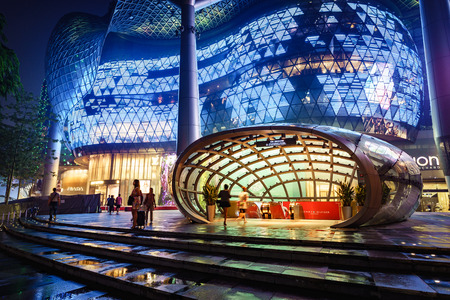ion: Singapore - September 14th, 2015: Ion Orchard department store is  where luxuary goods are sold. It is located on Orchard road Editorial