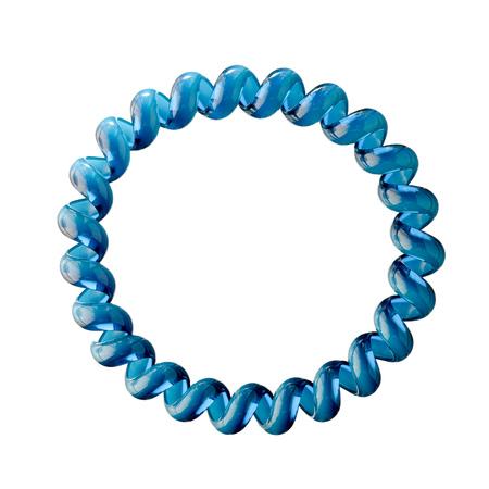 hair tie: Blue hair tie accessory for womans hair