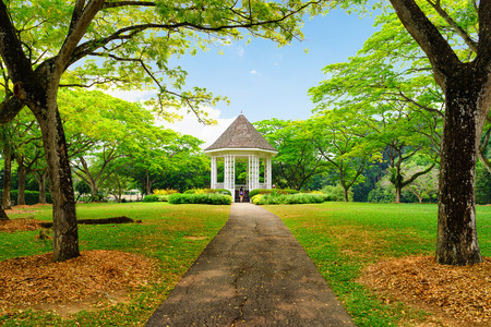 Band stand landmark at Singapore Botanic Garden
