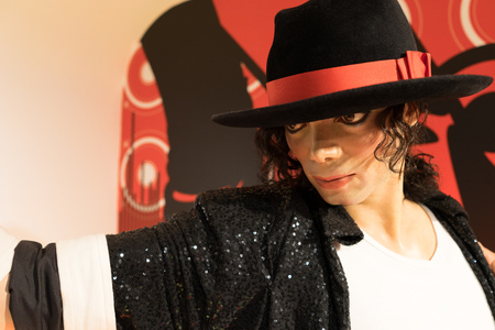 BANGKOK, THAILAND - CIRCA August, 2015: Wax figure of the famous Michael Jackson from Madame Tussauds, Siam Discovery, Bangkok
