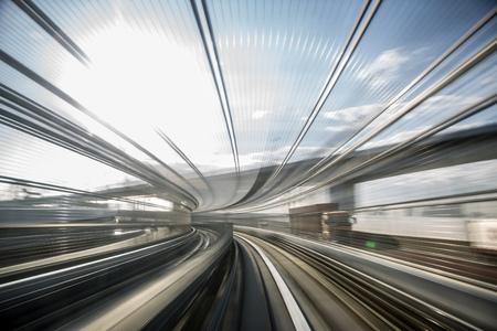 Bewegungsunschärfe der japanischen Monorail