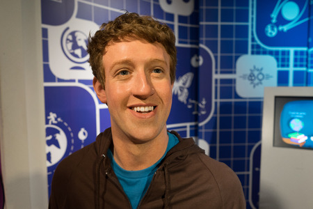 BANGKOK, THAILAND - CIRCA August, 2015: Wax figure of the famous Mark Zuckerberg from Madame Tussauds, Siam Discovery, Bangkok
