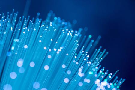 fiber optics: Close up on fiber optics - Shallow depth of field Stock Photo