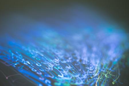 optics: Close up on fiber optics - Shallow depth of field Stock Photo