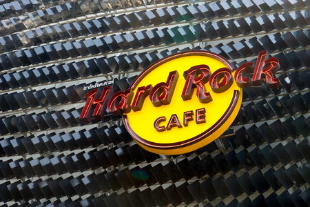 hardrock: BANGKOK, THAILAND-CIRCA APRIL, 2016: Hard rock cafe shop at Siam shopping center. Hard rock cafe is a restaurant chain with over 200 fronts.