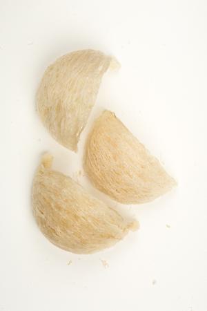 edible: Fresh edible birds nest on white paper