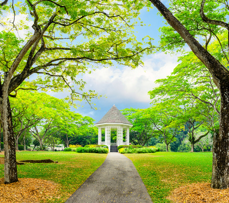 botanic garden: Band stand landmark at Singapore Botanic Garden