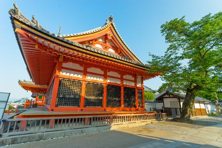 the world heritage: Kiyomizu dera is a world heritage temple in Kyoto Stock Photo