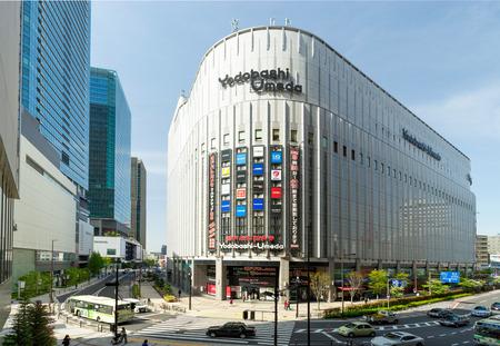 OSAKA, JAPAN - CIRCA MAY 2016: Yodobashi camera store building in Namba, Yodobashi is one of the electronic mega store in Japan. Editorial