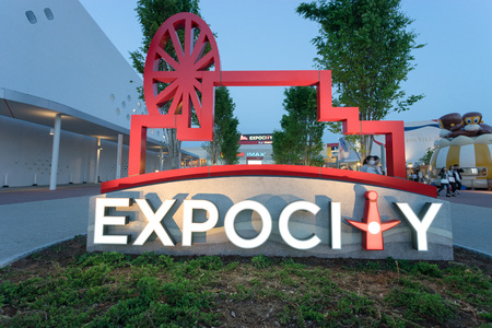the world expo: OSAKA, JAPAN CIRCA APRIL 2016: Expocity is the largest shopping complex in Japan. Editorial