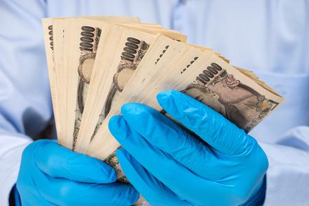 money on in hand