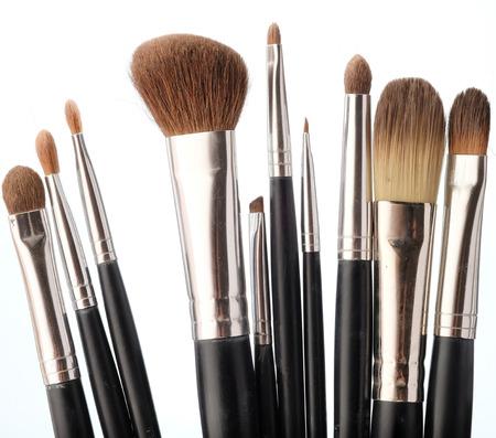 Close up on isolated make up brush