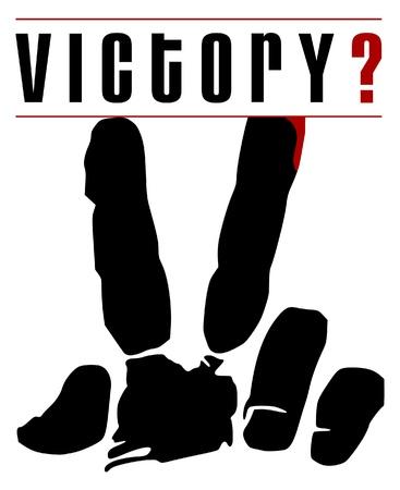 fingers gesture Victory