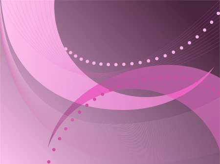 abstract dark pink background with a thin and broad lines and dots Vector