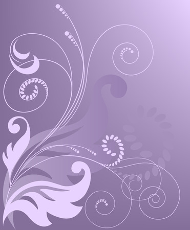 abstract gradient purple background with floral elements