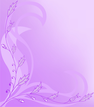asymmetrical purple background with floral ornaments Vector