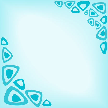 abstract turquoise background as a frame of triangles Vector