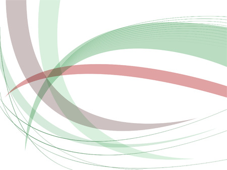 abstract white background with green lines and arcs Stock Vector - 7417086