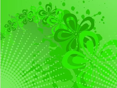 Green halftone Stock Vector - 7603514