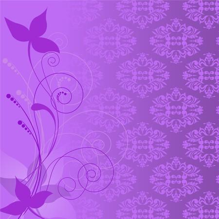solemn: composici�n de la planta de lila en el fondo de un ornamento p�rpura