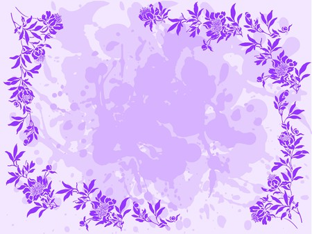 bedraggled: bedraggled lilac background with a floral frame around the edges