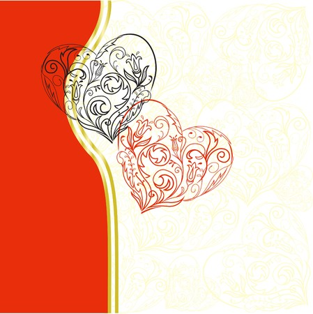 two hearts Stock Vector - 7681504