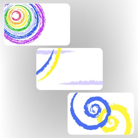 set of three gift cards with abstract images Vector
