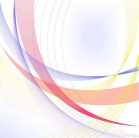 astratto sfondo bianco con archi e linee blu e gialle