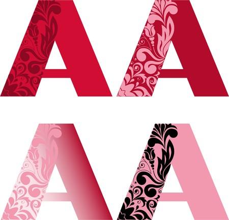 Un conjunto de cuatro letras