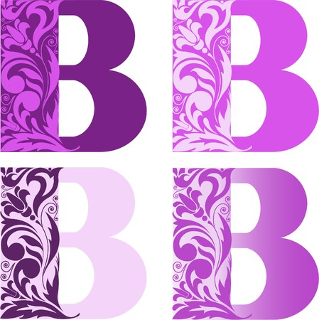 A set of four letters Stock Vector - 7823073