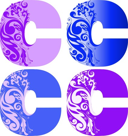 A set of four letters Stock Vector - 7823072