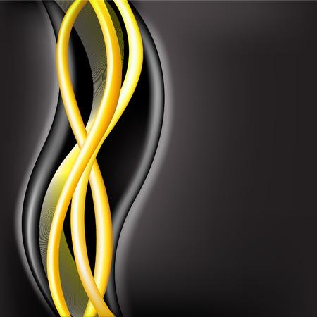 flickering: brilliant yellow wave on the flickering black background