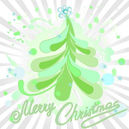 spattered: �rbol de Navidad en el fondo salpicadas con estrellas Vectores