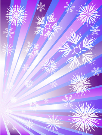 Fireworks from snowflakes to divergent violet rays Stock Vector - 8473560