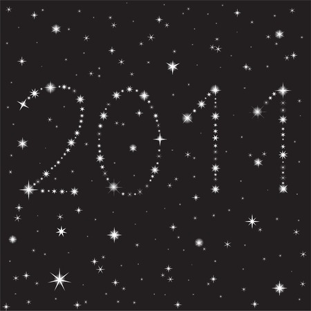 2011 from the stars in the night sky Vector