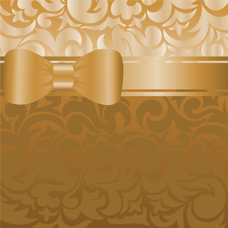 asymmetrical: beautiful brown background with asymmetrical bow on the ribbon