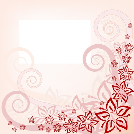 Abstract pink floral background in pink. vector layered. Stock Vector - 8809828